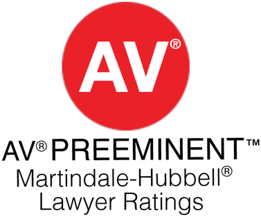 AV PREEMINRNT Martindale-Hubbell Lawyer Ratings