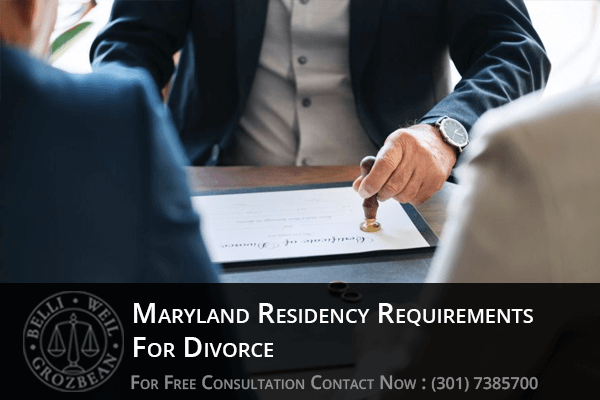 Maryland Residency Requirements For Divorce